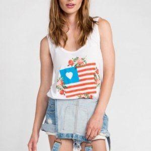 WILDFOX   Floral American Flag Tank - H6